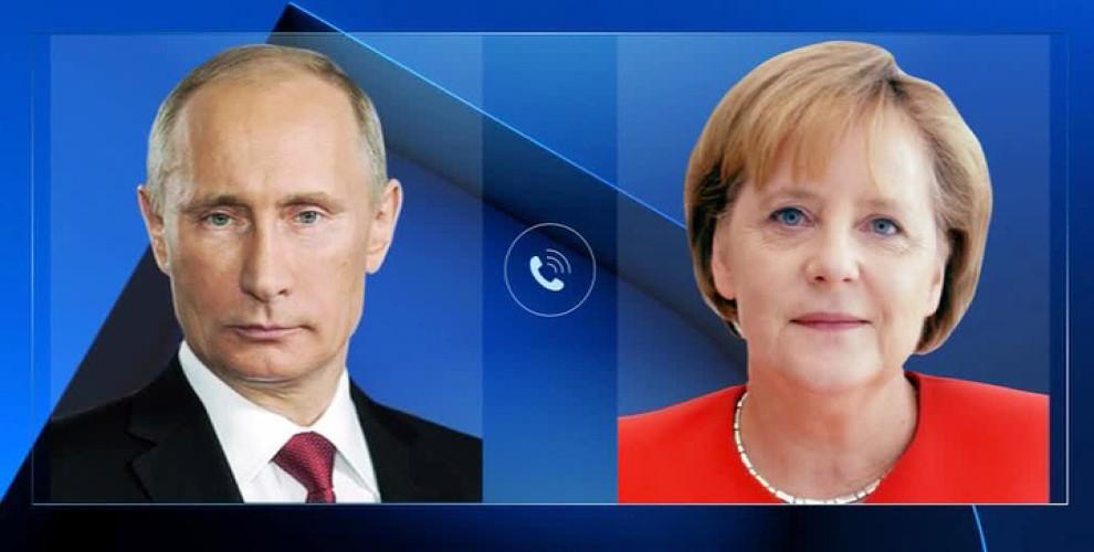 Путин и Меркель обсудили подготовку к саммиту «нормандской четверки»